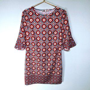 Aryeh Patterned Quarter Sleeves Shift Dress S